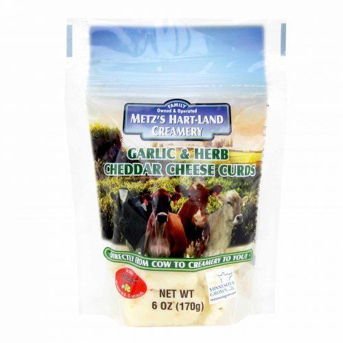 Metzs Hart Land Garlic Herb Cheddar Cheese Curds