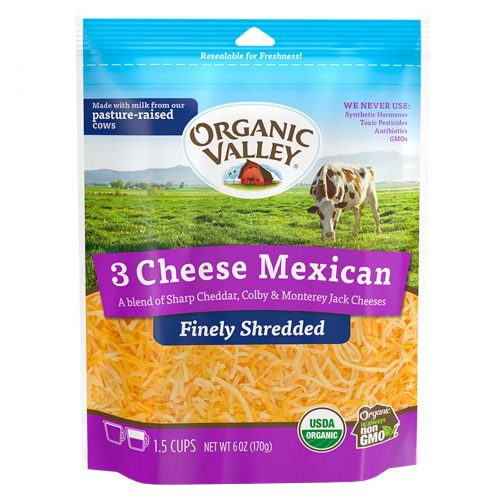 Organic Valley Mexican Blend Cheese