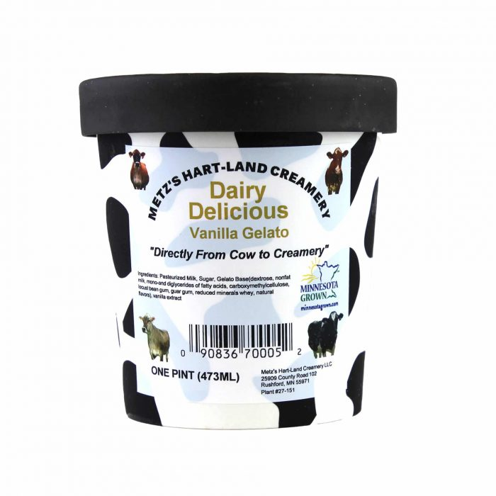 Metzs Gelato Dairy Delicious Vanilla