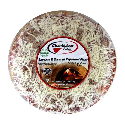 Chanticlear Sausage Pepperoni Pizza
