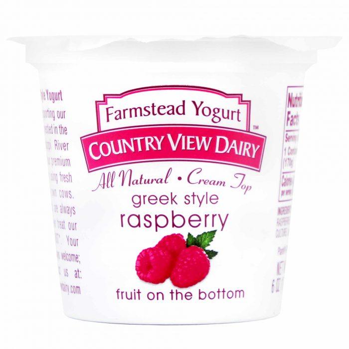 Country View Dairy Greek Style Raspberry Yogurt